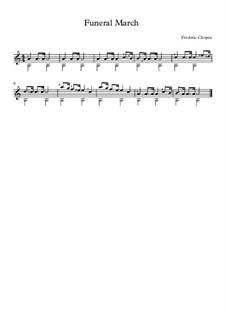 Соната для фортепиано No.2 си-бемоль минор, Op.35: Часть III, для гитары by Фредерик Шопен
