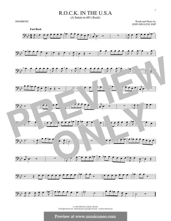 R.O.C.K. in the U.S.A. (A Salute to 60's Rock): For trombone by John Mellencamp
