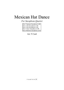 Mexican Hat Dance: For saxophone quartet by folklore