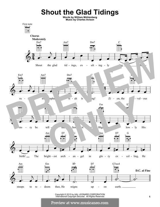 Shout the Glad Tidings: Для укулеле by Чарльз Ависон