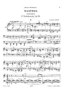 Симфония 'Манфред', TH 28 Op.58: Для фортепиано by Петр Чайковский