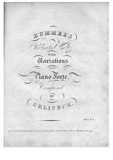Вариации на тему 'Celebrated Waltz' Гуммеля: Вариации на тему 'Celebrated Waltz' Гуммеля by Йозеф Гелинек