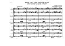 Cello Concerto in F major: Партитура by Domenico Lanzetti