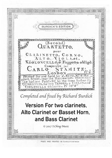 Quartetto: For clarinet ensemble by Карл Стамиц