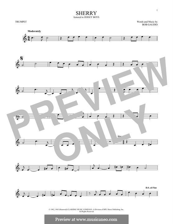 Sherry (The Four Seasons): Для трубы by Bob Gaudio