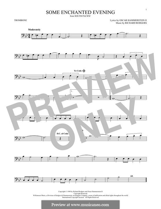 Some Enchanted Evening (from South Pacific): For trombone by Richard Rodgers