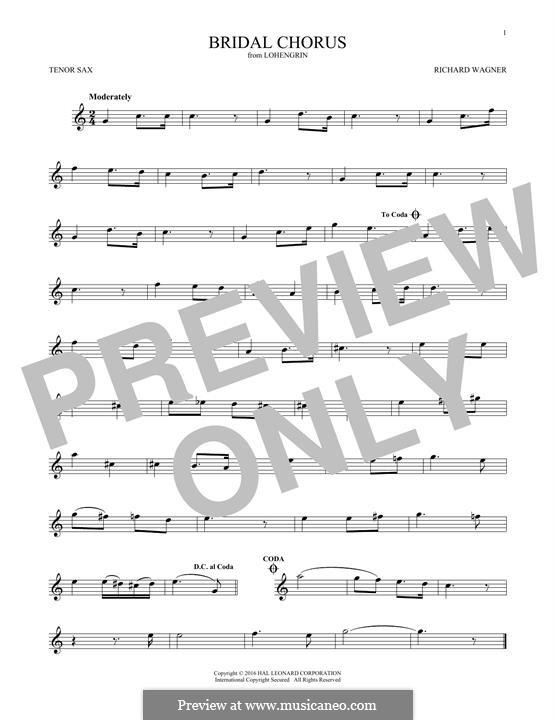 Свадебный хор: Для тенорового саксофона by Рихард Вагнер