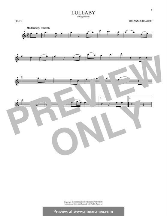 No.4 Колыбельная: Для флейты by Иоганнес Брамс