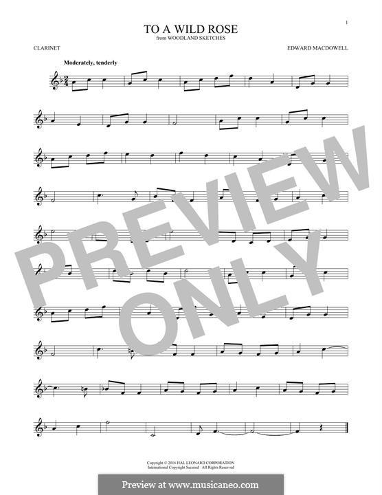 No.1 К дикой розе: Для кларнета by Эдвард Макдоуэлл