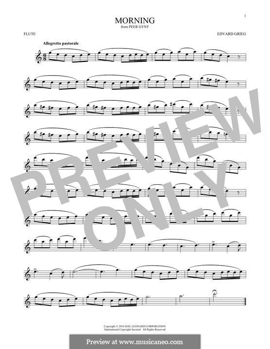 Сюита No.1. Утро, Op.46 No.1: Для флейты by Эдвард Григ