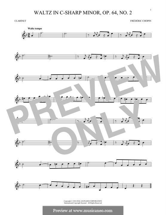 No.2 до-диез минор: Для кларнета by Фредерик Шопен