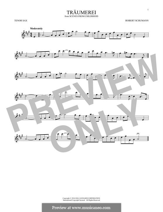 No.7 Грезы: Для тенорового саксофона by Роберт Шуман