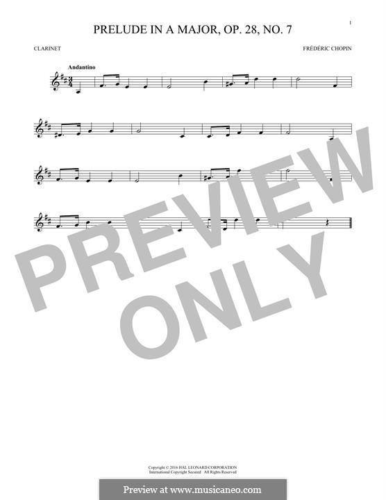 No.7 ля мажор: Для кларнета by Фредерик Шопен