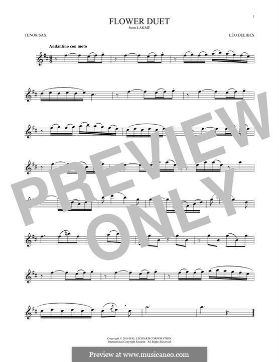 The Flower Duet: Для тенорового саксофона by Лео Делиб