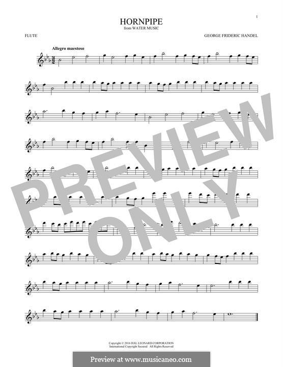 Сюита No.2 ре мажор, HWV 349: Alla Hornpipe, for flute by Георг Фридрих Гендель