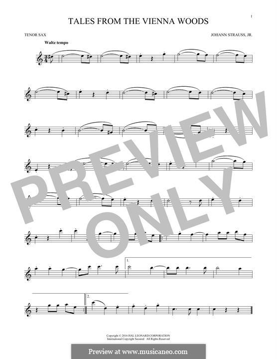 Сказки Венского леса, Op.325: For tenor saxophone (fragment) by Иоганн Штраус (младший)