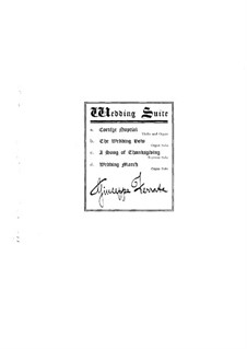 Wedding Suite, Op.20: No.1 Cortège Nuptial – violin part by Джузеппе Феррата
