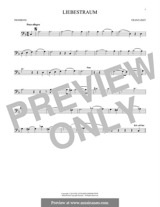 Ноктюрн No.3: Theme, for trombone by Франц Лист