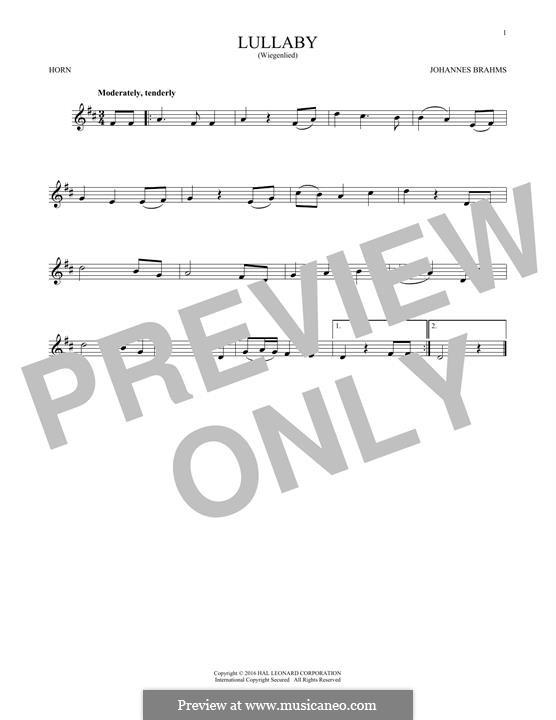 No.4 Колыбельная: For horn by Иоганнес Брамс