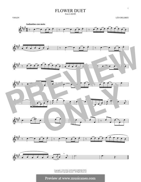 The Flower Duet: Для скрипки by Лео Делиб