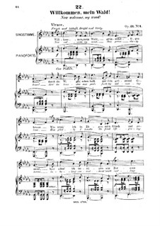 Шесть песен, Op.21: No.1 Willkommen, mein Wald (Now Welcome, My Wood) by Роберт Франц