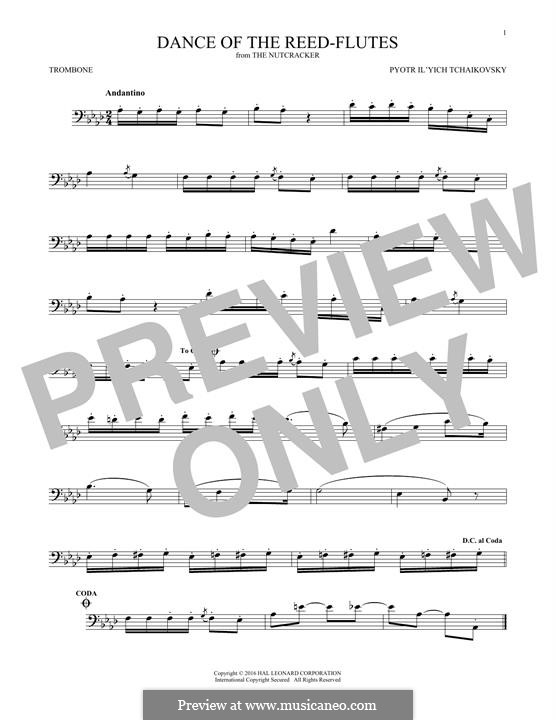No.7 Танец пастушков: For trombone by Петр Чайковский