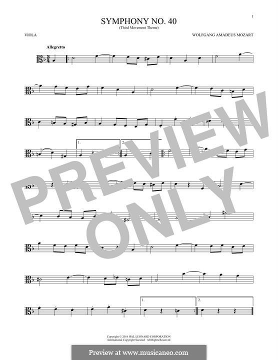 Часть III: Theme, for viola by Вольфганг Амадей Моцарт