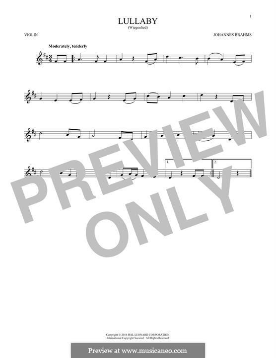 No.4 Колыбельная: Для скрипки by Иоганнес Брамс