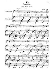 Шесть песен, Op.28: No.3 Nachtlied (Song of the Night) by Роберт Франц