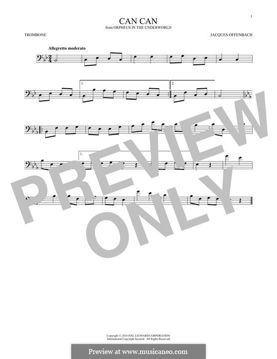 Канкан: For trombone by Жак Оффенбах