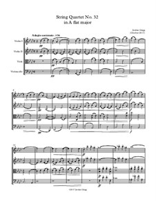 String Quartet No.32 in A flat major: String Quartet No.32 in A flat major by Jordan Grigg