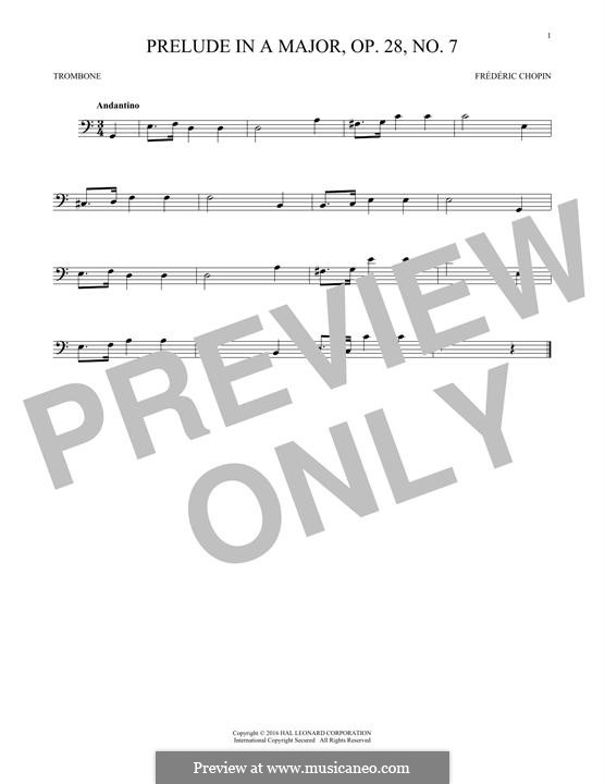 No.7 ля мажор: For trombone by Фредерик Шопен