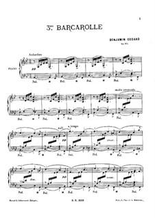 Баркарола No.3 си-бемоль мажор, Op.105: Баркарола No.3 си-бемоль мажор by Бенжамин Годар