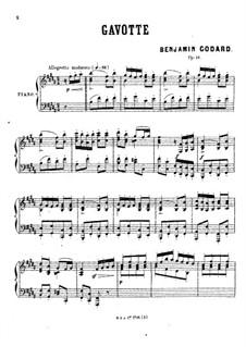 Гавот для фортепиано си мажор, Op.16: Гавот для фортепиано си мажор by Бенжамин Годар