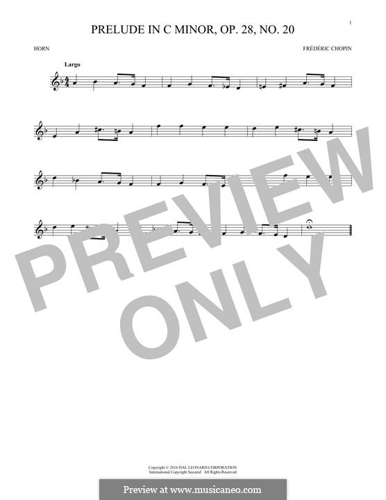 No.20 до минор: For horn by Фредерик Шопен