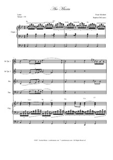 Аве Мария, D.839 Op.52 No.6: For brass quartet - organ accompaniment by Франц Шуберт