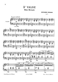 Вальс No.3 ми-бемоль мажор, Op.71: Вальс No.3 ми-бемоль мажор by Бенжамин Годар