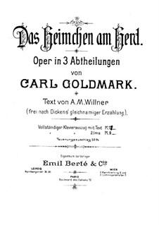 Сверчок на печи: Для голосов и фортепиано by Карл Голдмарк