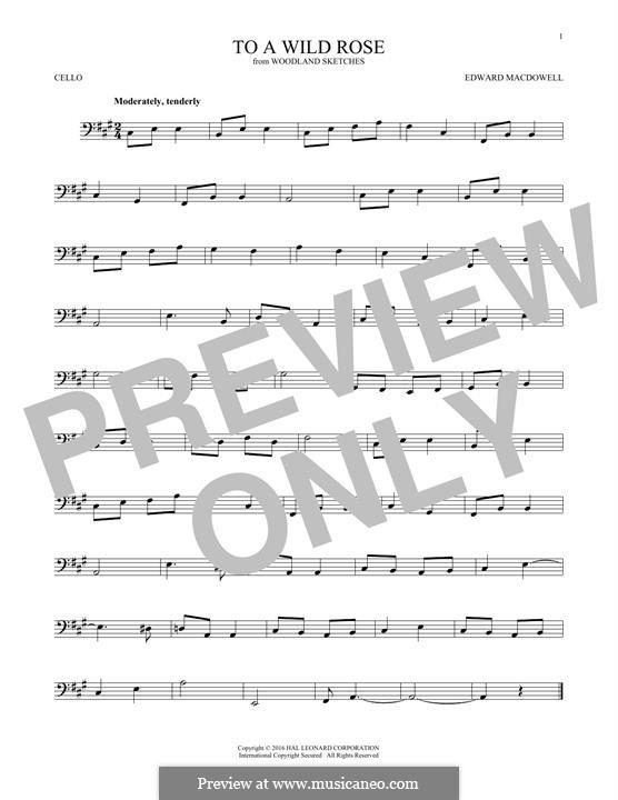 No.1 К дикой розе: Для виолончели by Эдвард Макдоуэлл