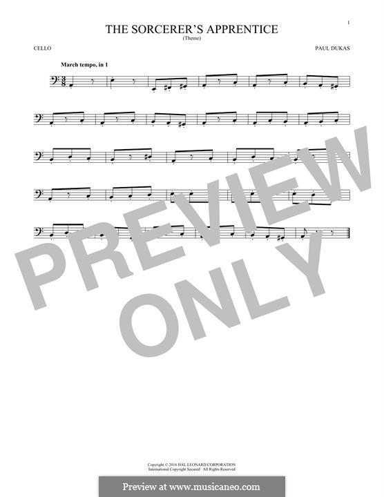 Ученик Чародея: Для виолончели by Поль Дюка