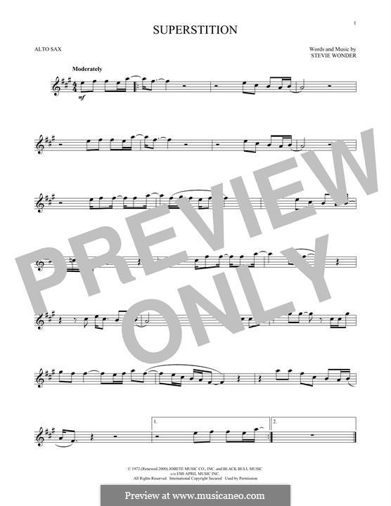 Superstition: Для альтового саксофона by Stevie Wonder