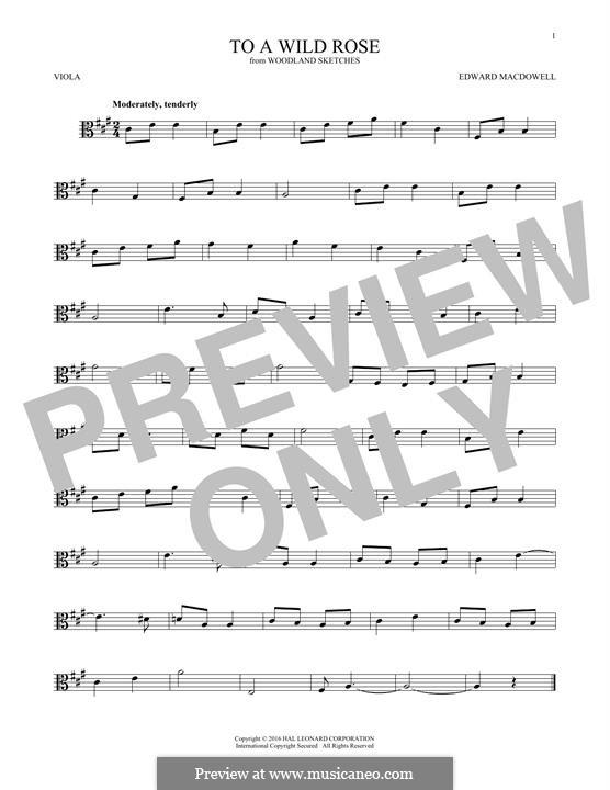 No.1 К дикой розе: For viola by Эдвард Макдоуэлл