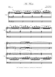 Аве Мария, D.839 Op.52 No.6: Duet for soprano and alto solo - high key - organ accompaniment by Франц Шуберт