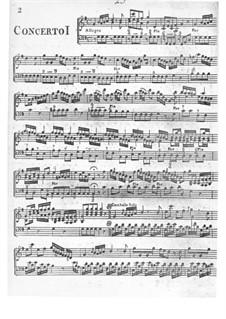 Концерт No.1 соль мажор для клавесина и струнных: Партия клавесина by Филип Хэйес