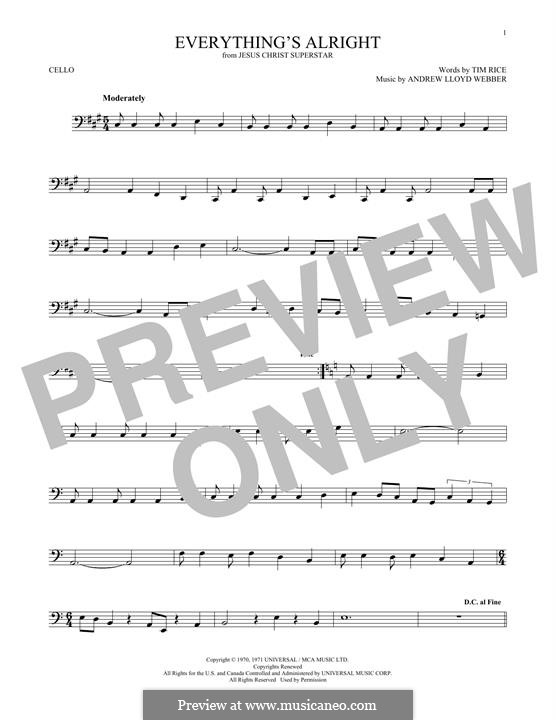 Everything's Alright: Для виолончели by Andrew Lloyd Webber