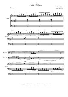 Аве Мария, D.839 Op.52 No.6: Duet for Bb-trumpet - organ accompaniment by Франц Шуберт