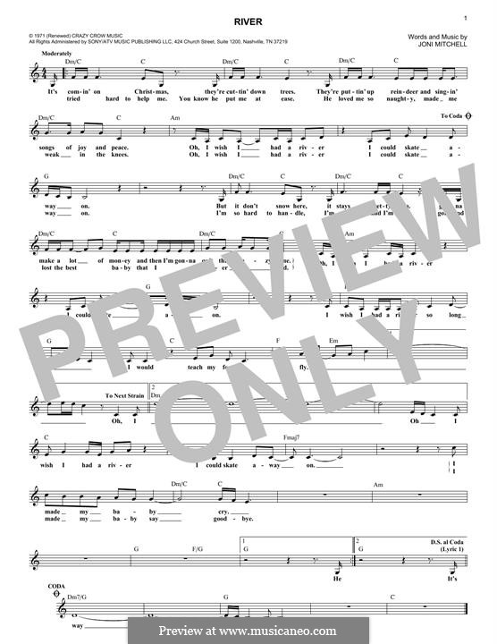 River: Мелодия by Joni Mitchell