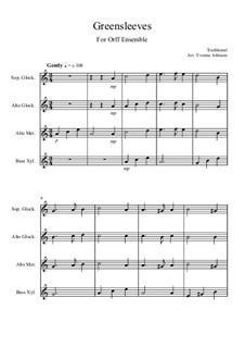Зеленые рукава: For orff ensemble by folklore