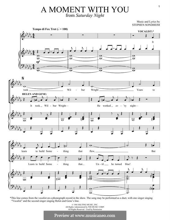 A Moment with You: Для голоса и фортепиано by Stephen Sondheim