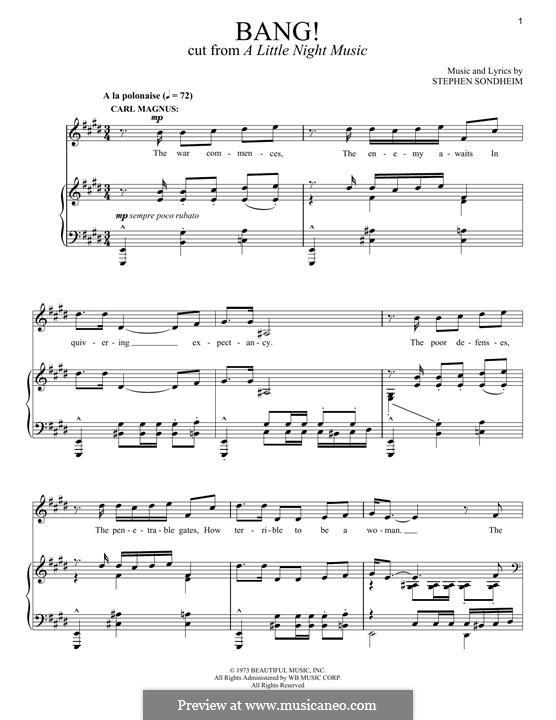 Bang!: Для голоса и фортепиано by Stephen Sondheim
